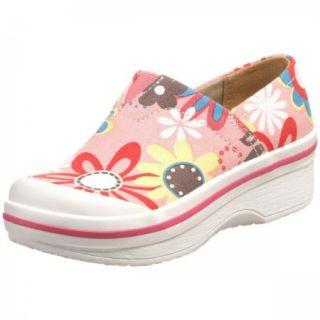 Dansko Vesta Canvas Clog Girls Shoes Pink Floral Size 4M US Big Kids