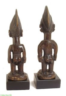 Yoruba Ibeji Pair of Twin Figures Custom Stand Africa