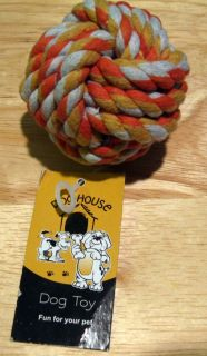 Pet Dog or Cat Rope Dogs Ball Cottons Chews Toy New