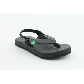 Sanuk Yoga Mat Kids Infant Baby Boys Size 8 Black Flip Flops Sandals
