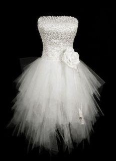 2013 Beaded White Short Mini Cocktail Homecoming Evening Prom Wedding