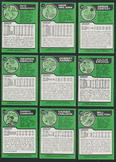 1977 78 TOPPS BASKETBALL COMPLETE (132) CARD SET EX+ to EX/MT