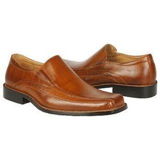 60 New Mens Stacy Adams Danton Cognac Brown Leather Slip on Loafer