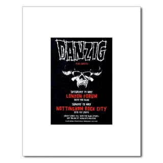 Danzig Satans Child Cartoon Matted Mini Poster
