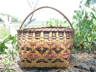 AMERICAN MARY BRADFORD CLARA DARDEN CHEROKEE INDIAN RIVERCANE BASKET