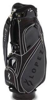 Nancy Lopez Golf Darden Cart Bag Ladies Womens Black Leather $149 99