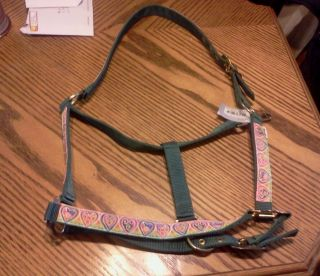 Hunter Green Tye Died Hearts Turnout Horse Nylon Halter
