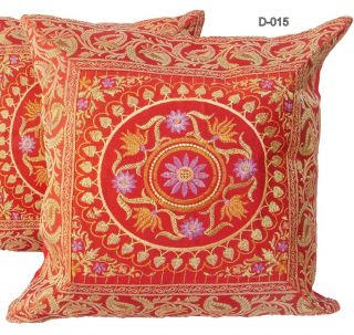 CUSHION FLORAL EMBROIDERY AND BROCADE WORK HOME FURNISHING DECOR ART