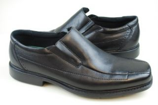 Mens Clarks Deane Full Grain Black Leather Bicycle Toe Slip on Loafer