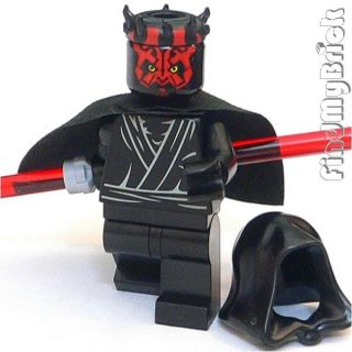 SW837 Lego Star Wars Darth Maul Custom Minifigure with Zabrak Horns