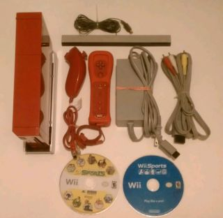 Nintendo Wii Limited Edition Red Console Complete System