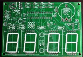 LED 7 Segment Real Time Clock Date and Temp Pic Kit