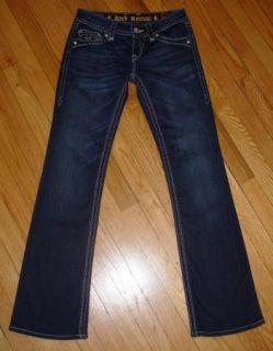 ROCK REVIVAL *DEBORAH* Boot Jeans Low Rise Stretch Flap Pkts 28 x 31.5