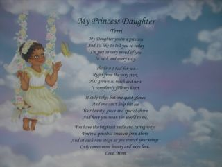 Personalized Poem Birthday or Christmas Gift Ethnic Angel