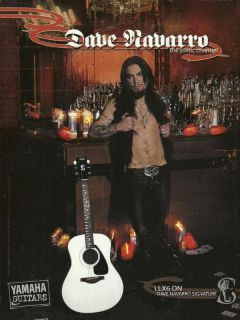 Janes Addiction Dave Navarro Signature Yamaha LLX6DN Acoustic Guitar