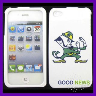 Verizon AT&T Apple iPhone 4 4S   Notre Dame Fighting Irish Case Cover