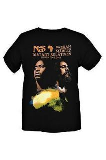 NAS and Damian Marley World Tour T Shirt Distant Relatives CD LP Art