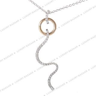 Damiani 18K White and Rose Gold Diamond Set Pendant Necklace