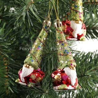 3pcs Festival Twinkling Santa Claus Christmas Tree Decorations Hanging