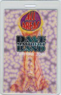 Dave Matthews 2001 Summer Laminated Backstage Pass AA