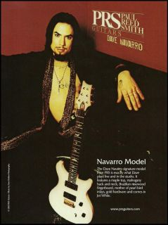 Janes Addictions Dave Navarro Signature Model PRS Guitar Ad 8x11