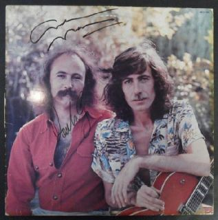 David Crosby Graham Nash Signed LP Autograph Original