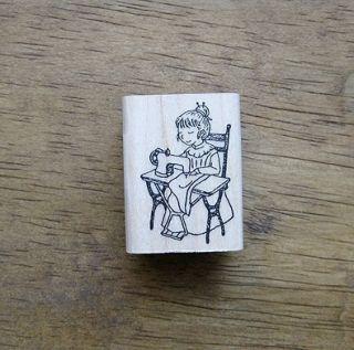 Decorative Stamps Rubber Stamp Madam Chouchou Sewing Machine