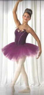 Plum Waltz Ballet Tutu Dance Costume Nutcracker CS 6x7 cm CL as Am Al