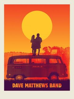 2012 Dave Matthews Band VW Bus Couple Sunset Noblesville 12 Concert