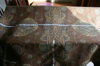 Brown Gold Medalian Print Tapestry Fabric Material