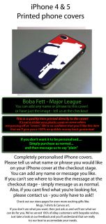 Star Wars Boba Fett Fits iPhone4 Cover I Phone 4 4G 4S Bountie League