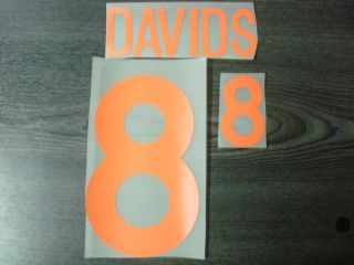 RARE Davids 8 Holland Away Euro 2000 Name Number