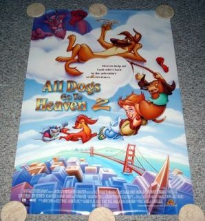 Dogs Go to Heaven 2 Poster One Sheet Dom DeLuise Charlie Sheen