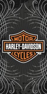 Harley Davidson Towel Beach Bath Motorcycle Chopper Biker Vibe Tribal