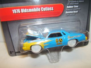 R12  *WHITE LIGHTNING* 1976 Oldsmobile Cutlass DEMOLITION DERBY CAR