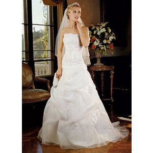 Davids Bridal Wedding Dress White Size 6 Ball Gown Pick Up Skirt