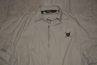 Polo Ralph Lauren Golf Windbreaker Jacket Medium Tan
