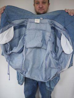 Zeppelin Better Off Dead Light Blue Denim Jean Jacket Mens L
