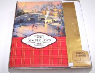 Kinkade Christmas Cards Glitter Foil Lined Box of 18 by DaySpring NIB