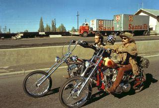Dennis Hopper EASY RIDER rare color 7 Harley Davidson Cult PETER FONDA
