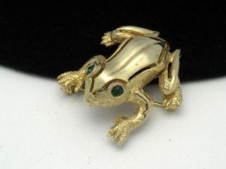 De Nicola DeNicola Vintage Figural Frog Brooch Pin Rhinestone
