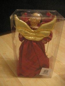 Danson Decor Lighted Tree Top Angel X87201 Red Xmas Christmas