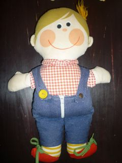 Vintage 1976 Playskool Dapper Dan Learn to Dress Doll