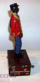 Marx Dapper Dan Coon Jigger The Jigging Porter Tin Wind Up Toy Works