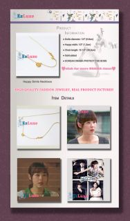 Korean Drama Defend Protect The Boss Happy Smile Necklace Love Heart