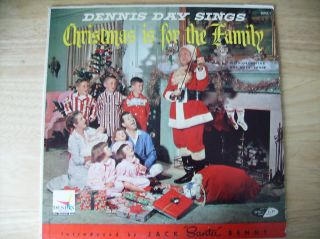 LP Dennis Day Sings Christmas Is for The Family Jack Benny Cover