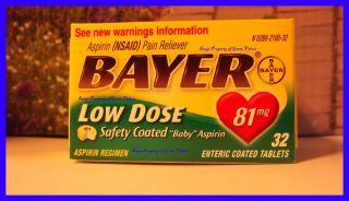 Bayer Low Dose 81 MG Safety Coated Baby Aspirin Adult Aspirin Regimen
