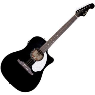 Fender Sonoran Acoustic Electric Guitar Black New