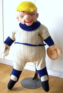 MR MAGOO DOLL 28 Tall UPA Pictures 1967 Vinyl Cloth Baseball Uniform