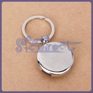 Outdoor Activity Favor Compass Design Pendant Key Chain Fob Ring